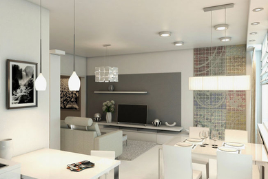 Трехкомнатная квартира (светлый интерьер)