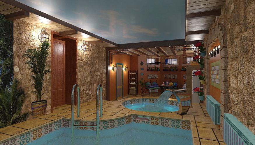 Интерьер частных бассейнов