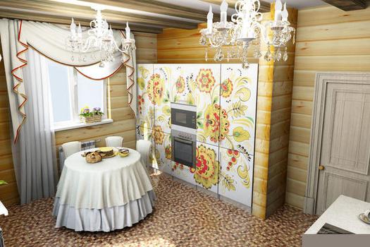 Кухня в русском национальном стиле