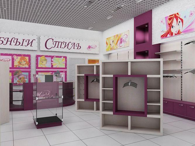 Дизайн-проект детского магазина в ТРК