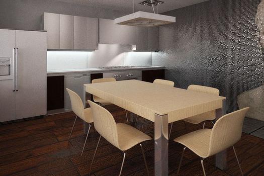 Квартира в стилях хай-тек, неоклассика