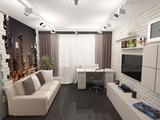 Интерьер однокомнатной квартиры 47 кв.м в современном стиле