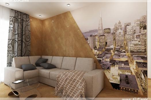 Интерьер 2-х комнатной квартиры (60 м.кв.)