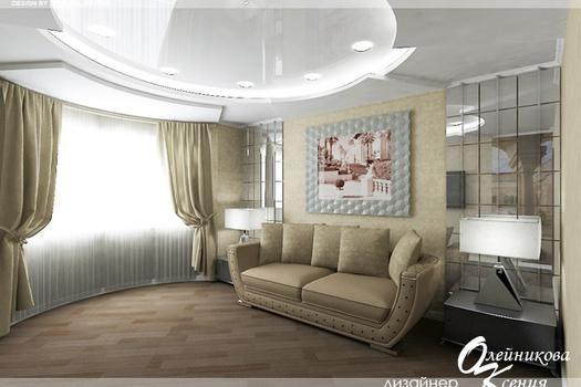Интерьер 1-комнатной квартиры (40 м.кв.)