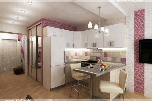 Интерьер 2-х комнатной квартиры (47 м.кв.)