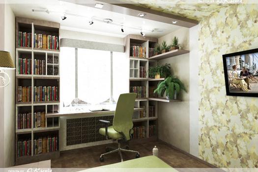 Интерьер 2-х комнатной квартиры (69 м.кв.)