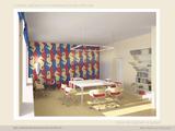Детское творчество. Интерьер детской студии швейного и кулинарного мастерства