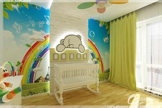 Интерьер детской комнаты, 11 м.кв.