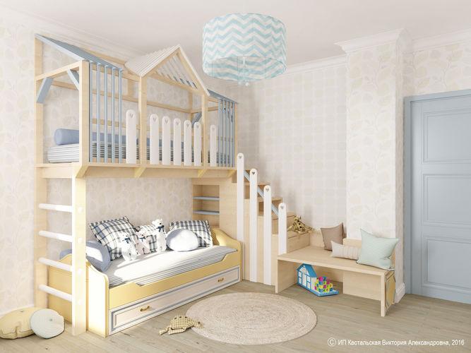 Уютный домик в интерьере детской.