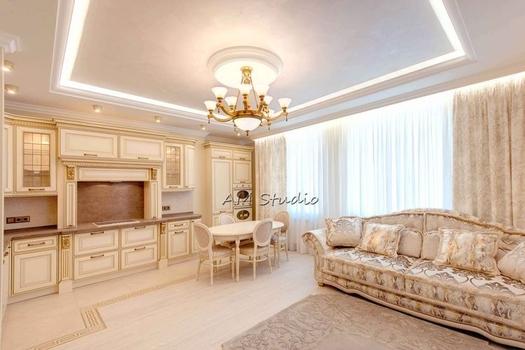 Роскошный интерьер в классическом стиле.