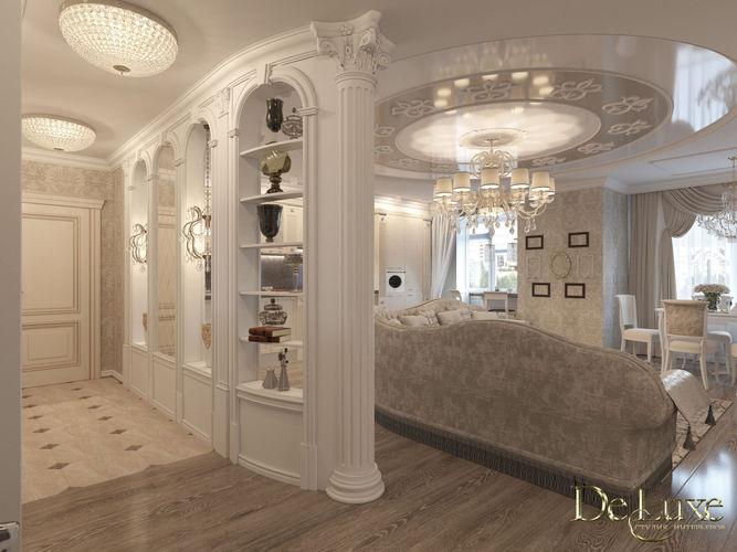 Дизайн 3-х комнат. квартиры (ул. Соревнования)