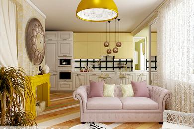 Интерьер двухкомнатной квартиры, проект