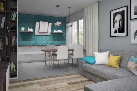 Перепланировка однокомнатной квартиры для троих