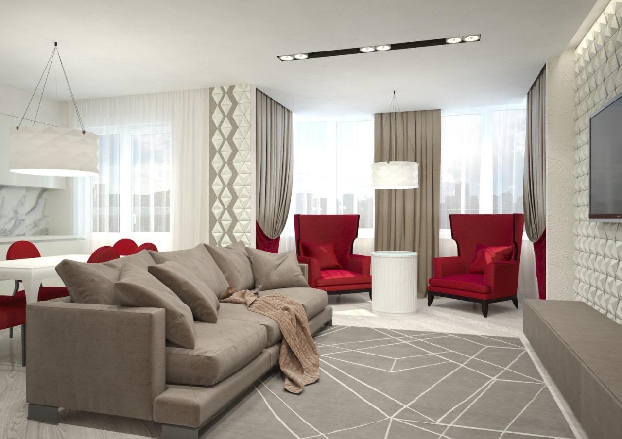 Дизайн проект комнаты студии