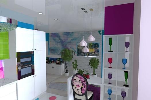 Квартира с стиле поп-арт