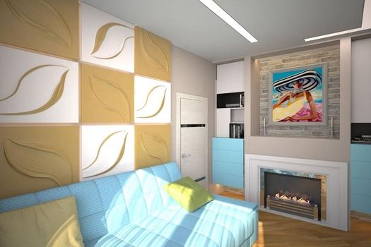 Трехкомнатная квартира-студия в г.Москве