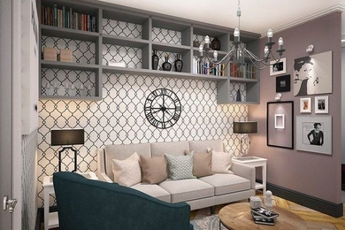 Проект однокомнатной квартиры для молодой девушки