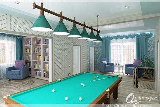 Дизайн-проект второго этажа загородного дома