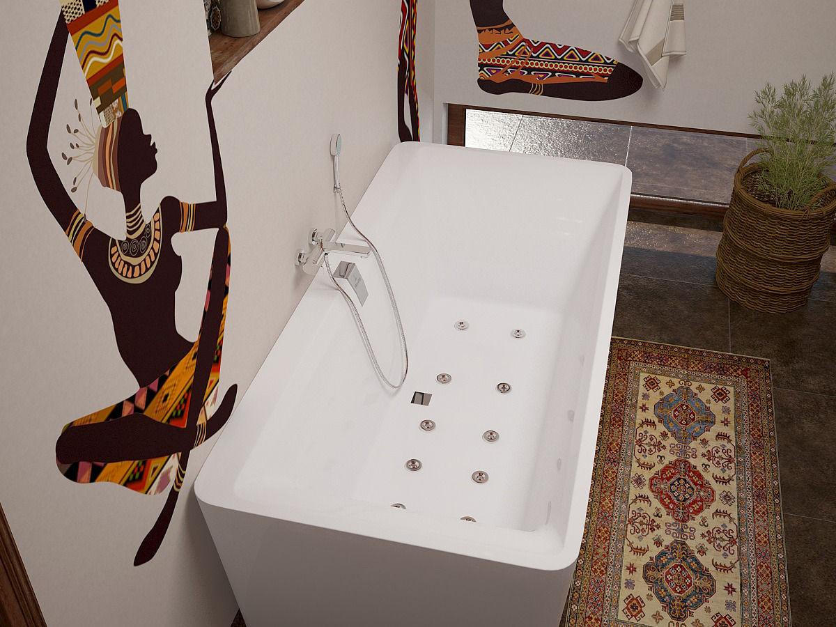 Ванная комната в африканском стиле
