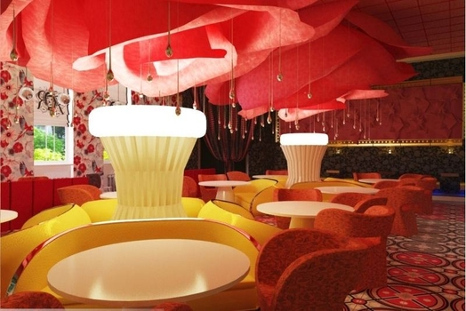 Интерьер ресторана, проект 'ROZAS'