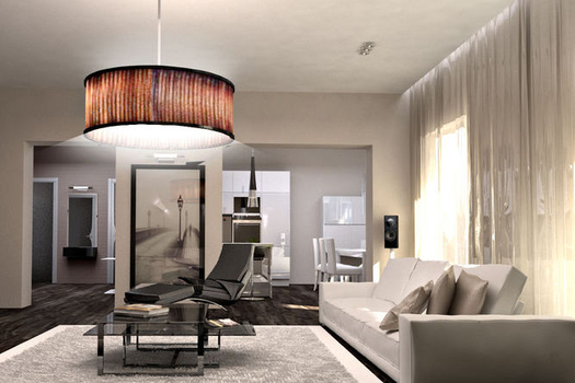 Интерьер трехкомнатной квартиры в стиле хай-тек