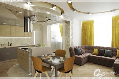 Дизайн-проект квартиры, 87 м.кв.