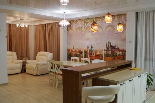 Дизайн интерьера коттеджа в Черногорске 120 м²