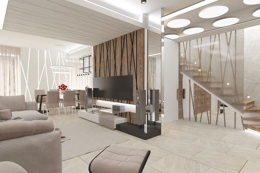 Дизайн проект интерьера таунхауса в пос.Шишкино