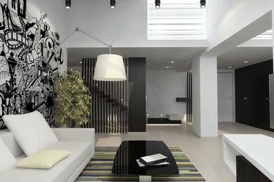 Дизайн проект интерьера двухуровневой квартиры