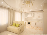 Дизайн-проект двухкомнатной квартиры 50 м2., 2014 г.