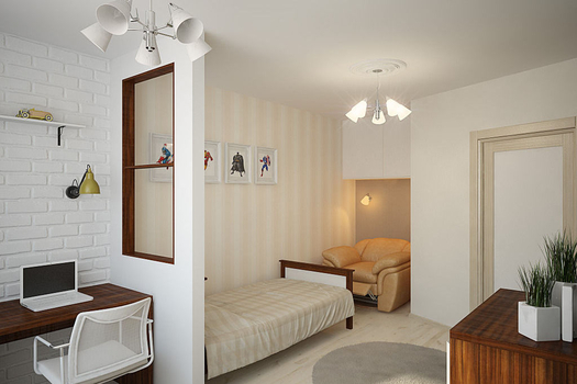 Дизайн-проект четырехкомнатной квартиры 120 м2., 2014 г.