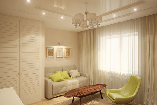 Кабинет в коттедже, 1 этаж. Визуализация и фото.