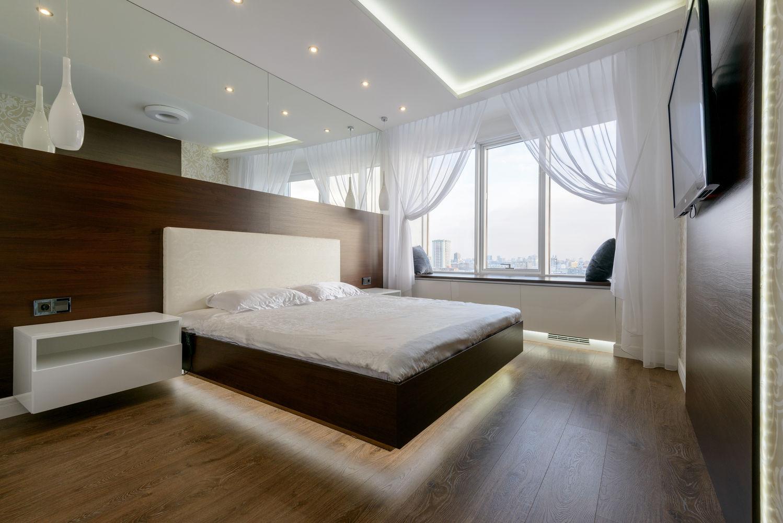 Четырёхкомнатная квартира. Спальня родителей. Сан.узел.Ванная комната