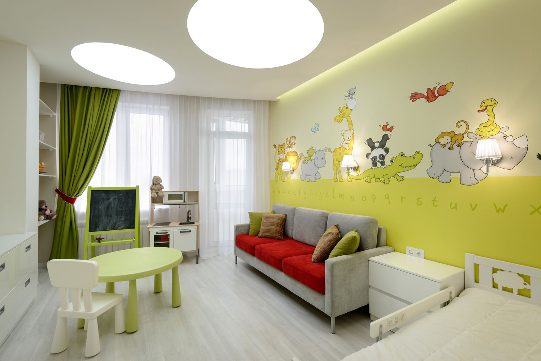 Четырехкомнатная квартира. Комнаты для детей
