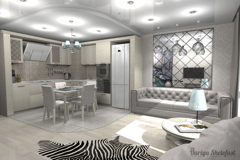Светлый интерьер квартиры