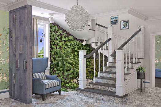 Холл с лестницей.