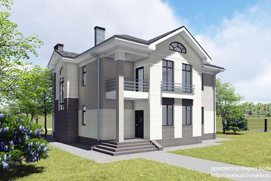 Проект дома в неоклассическом стиле.
