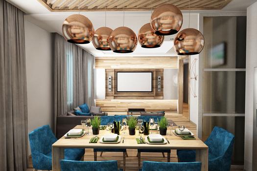 Дизайн проект квартиры 107 м.кв.