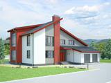 Современный дом с большой гостиной.