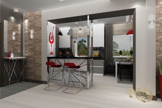 2 кардинально разных варианта кухни-столовой в частном доме.