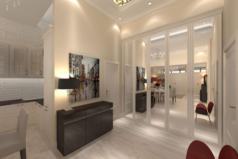 Дизайн квартиры с высоким потолком.