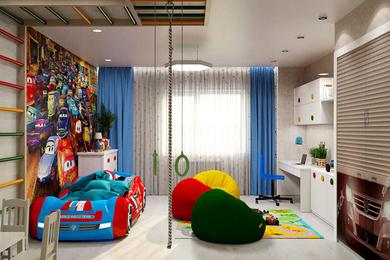 Дизайн интерьера детской комнаты для мальчика.
