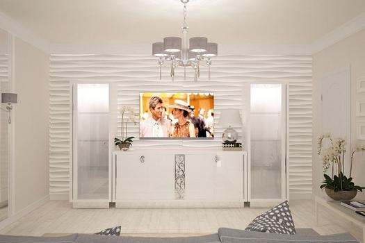 Квартира в классическом стиле Белая орхидея.