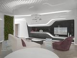 Концептуальный дизайн интерьера в стиле футуризм