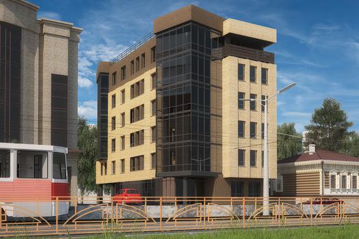 Офисное шести этажное здание