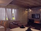 Проект кухни-гостиной в доме в Белокурихе.