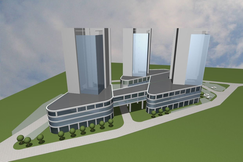 Эскиз жилого комплекса
