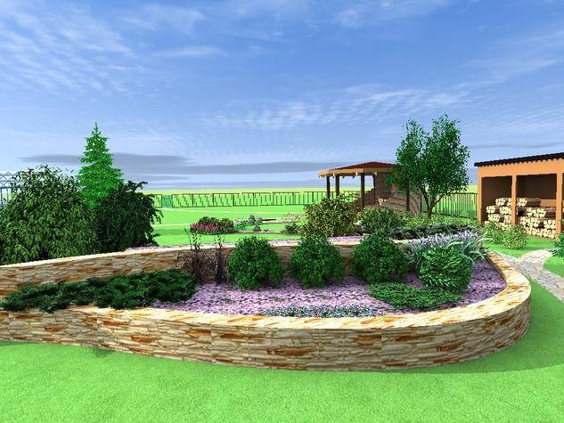 Пейзажный стиль как нельзя лучше подошел для дачного участка площадью 15 соток