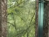 Имитация мрамора Bidasar Green в офисе