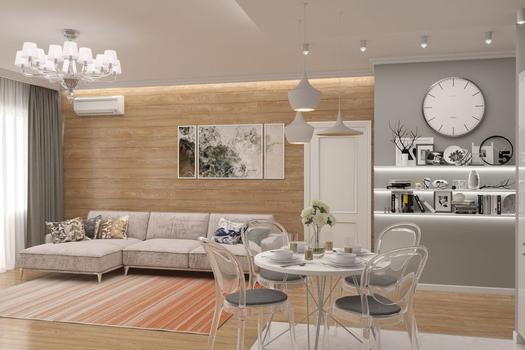 кухни-гостиные в современном стиле